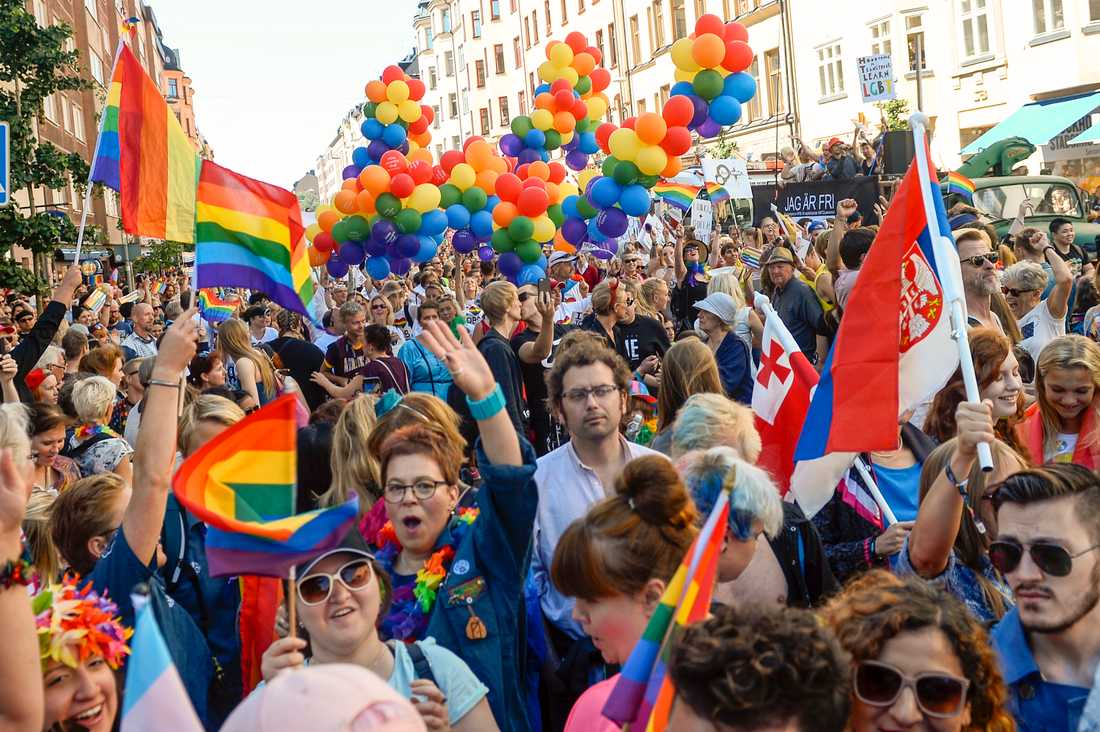 Prideparaden i Stockholm 2015.