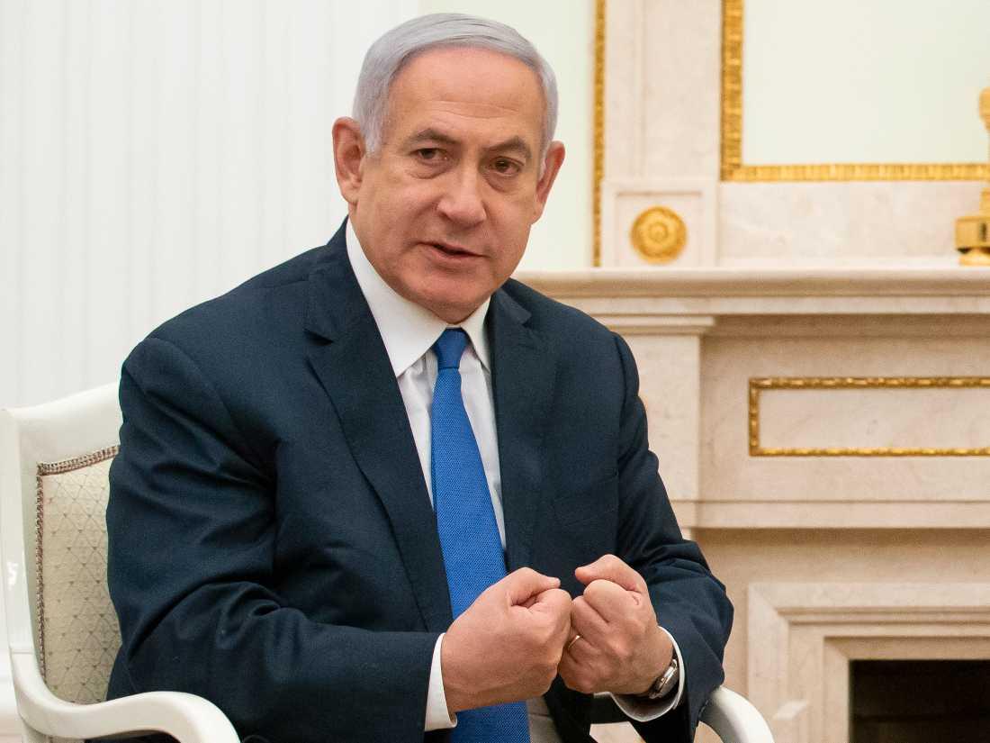 Israels premiärminister Benjamin Netanyahu under ett besök hos Rysslands president Vladimir Putin i Moskva i torsdags.
