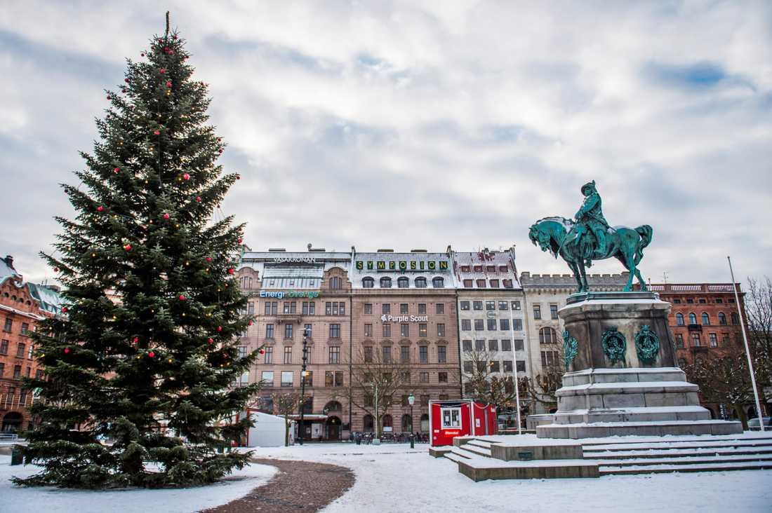 Julgranen på Stortorget år 2016.