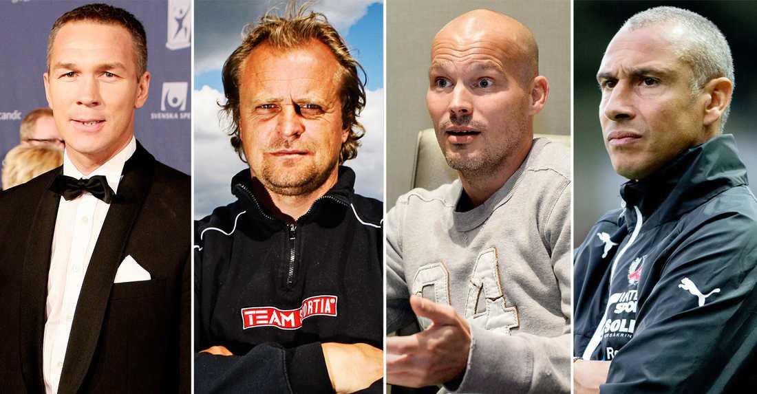 Patrik Andersson, Jonas Thern, Fredrik Ljungberg och Henrik Larsson har alla uttryckt missnöje med hur svensk fotboll utnyttjar gamla spelares kompetens.