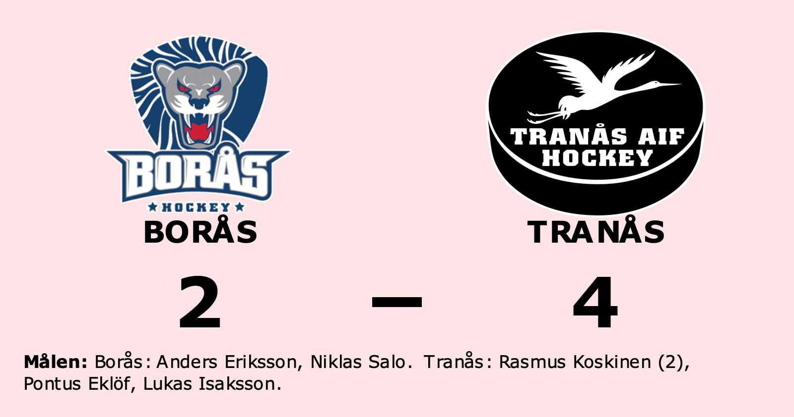 Tranås vann i HockeyEttan Kvalserien södra mot Borås