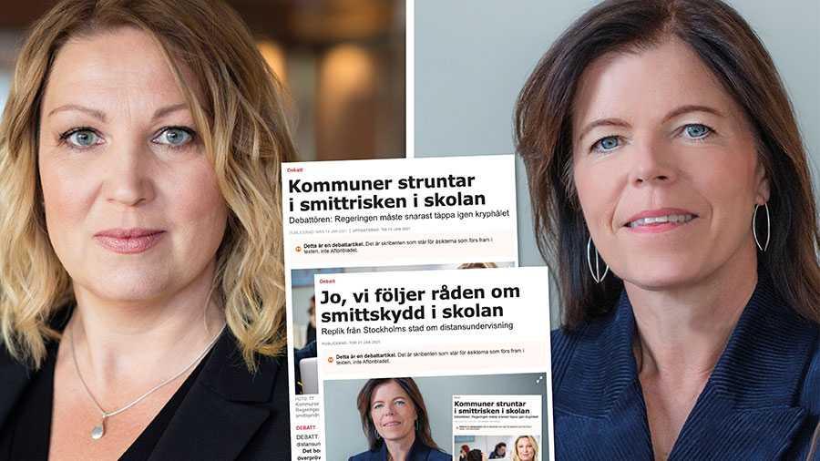 När skolborgarrådet i Stockholm lägger besluten om distans- respektive närundervisning i knät på sina rektorer befriar hon fiffigt sig själv från ansvar. Slutreplik från Johanna Jaara Åstrand.