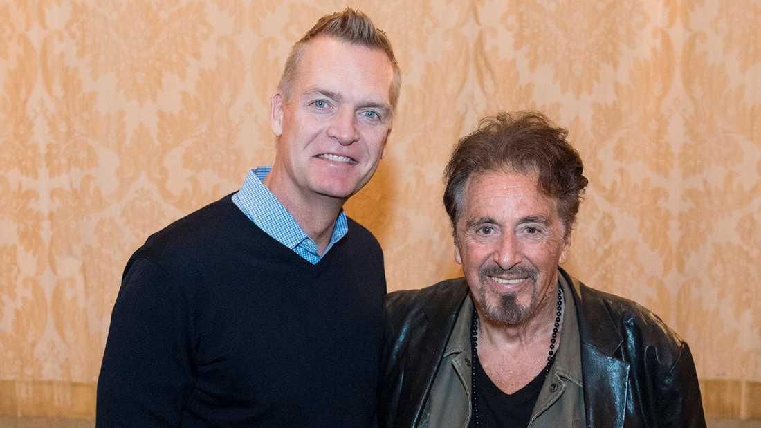 Nöjesbladets Magnus Sundholm med Al Pacino.