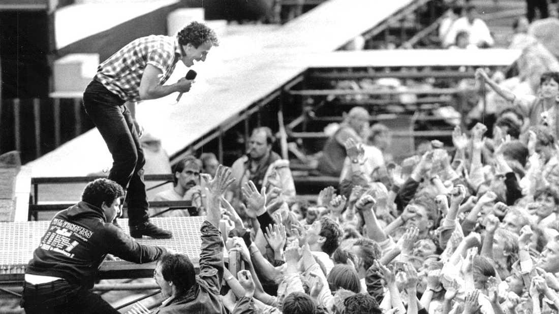 Bruce Springsteen på Ullevi 1985.