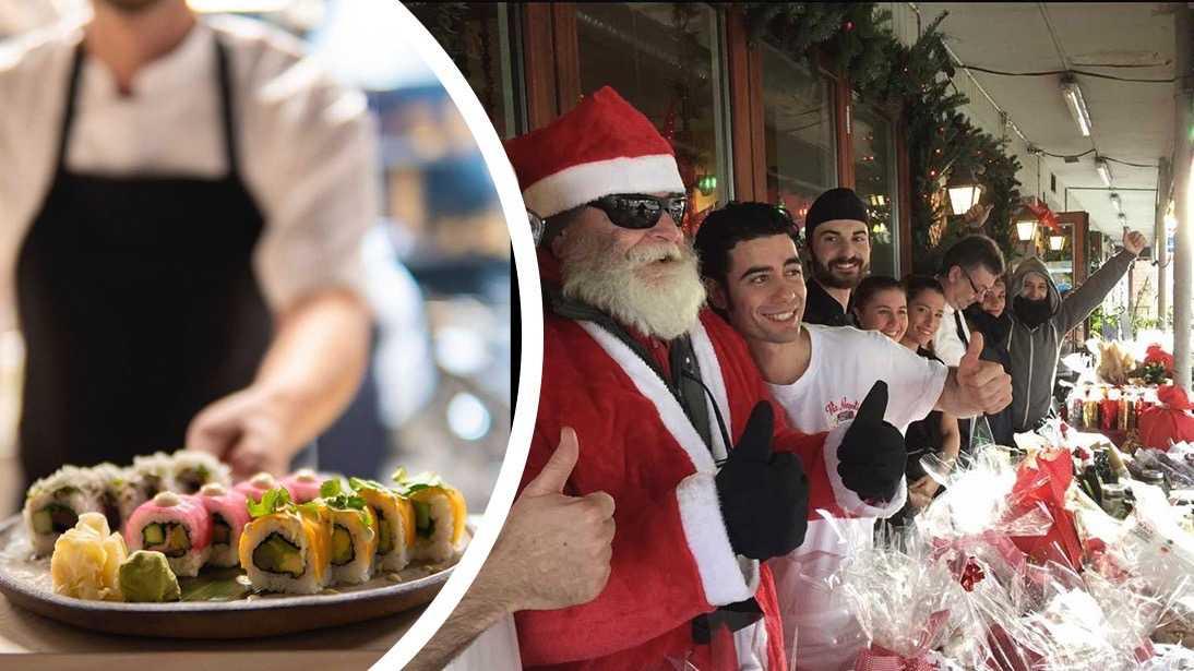 Gänget på restaurang Via Napoli serverar en Lady och Lufsen-julmeny med delikatesser och italienska råvaror.