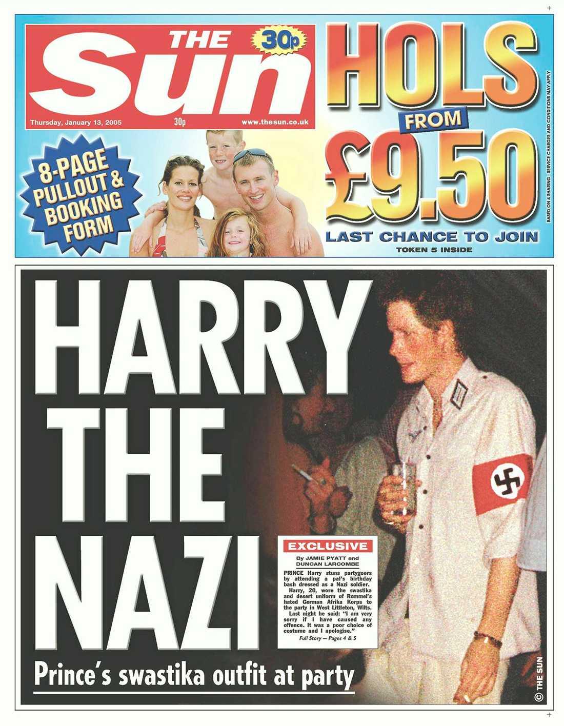 Prins Harry skapade rubriker när han klädde ut sig i nazistuniform.