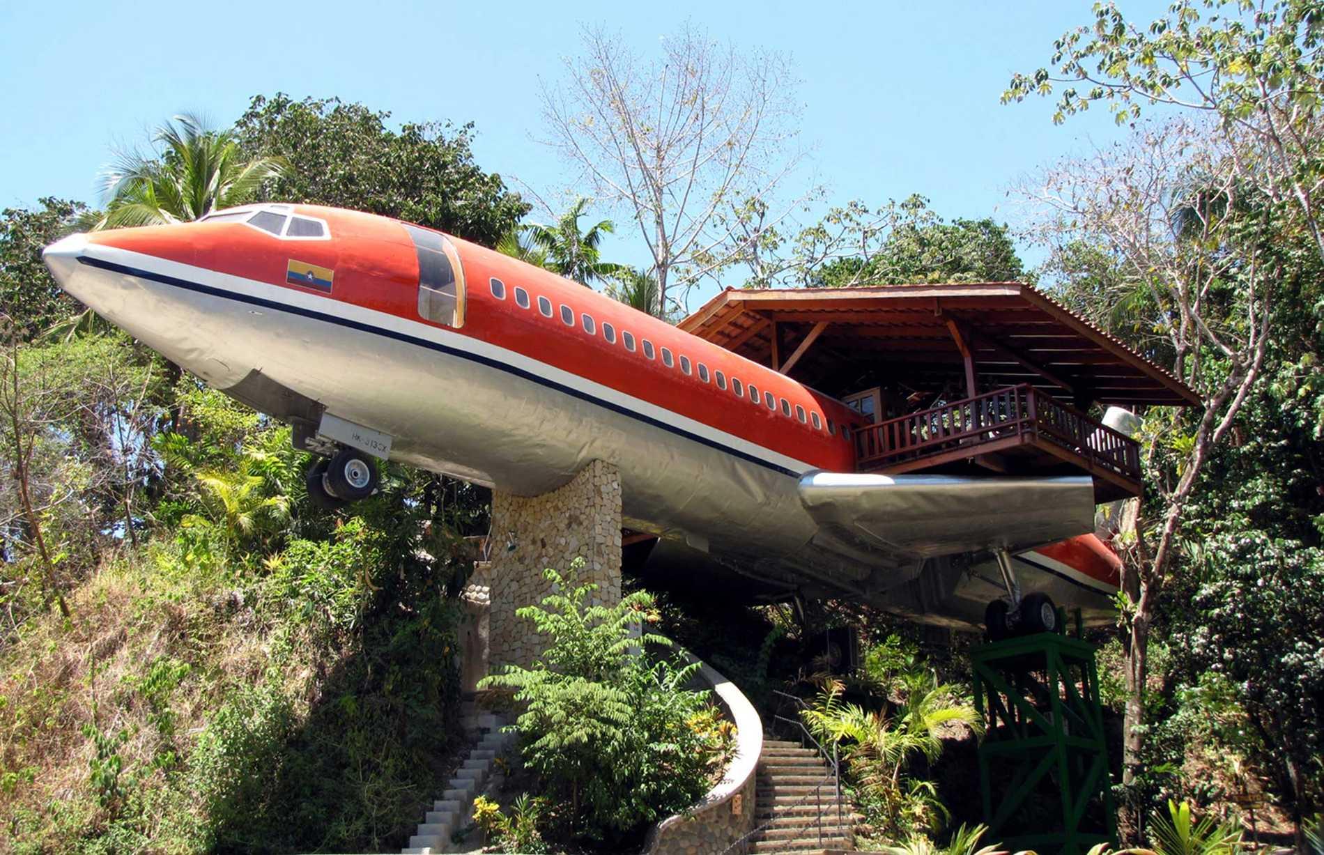 på flyg från costa rica