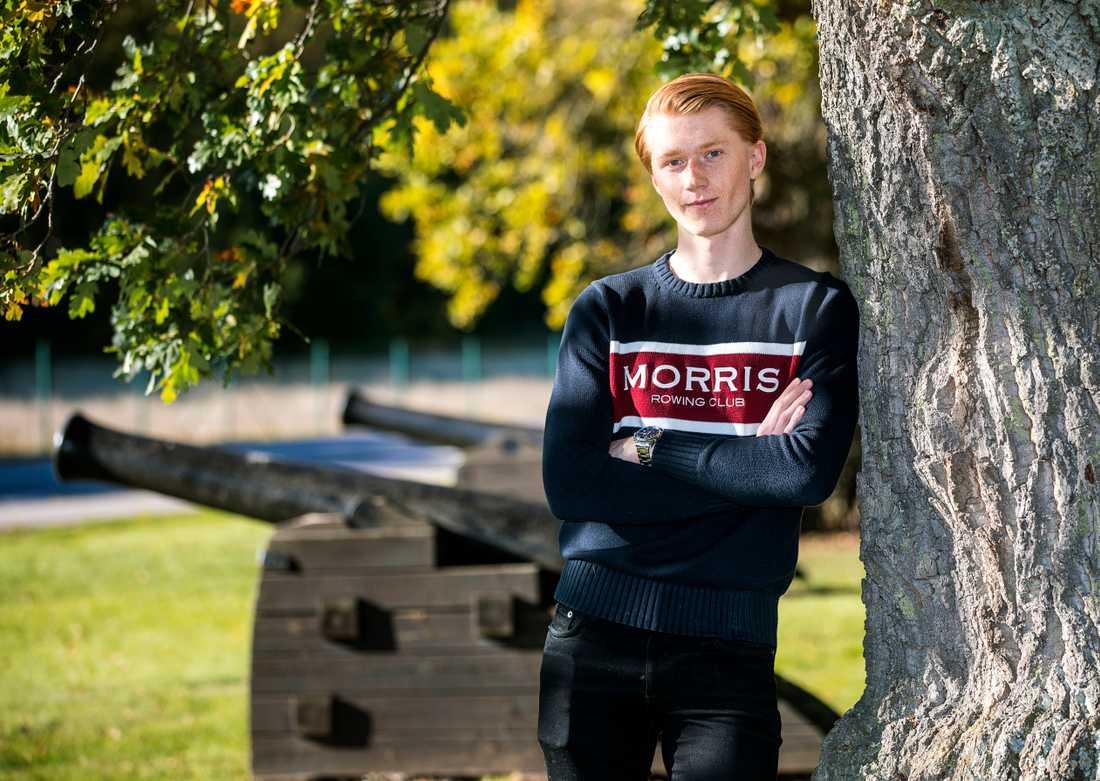 Rasmus Andtbacka, 19, missade flera tider för sin mönstring och har nu blivit åtalad för brott mot lagen om totalförsvarsplikt.