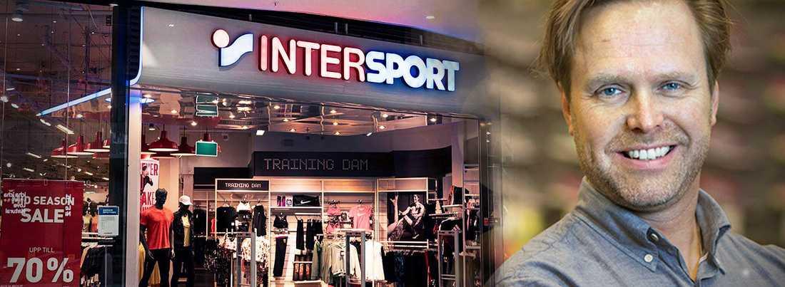 Marcus Wibergh är vd för butikskedjan Intersport som drabbats hårt av det tuffa ekonomiska läget i och med coronapandemin.