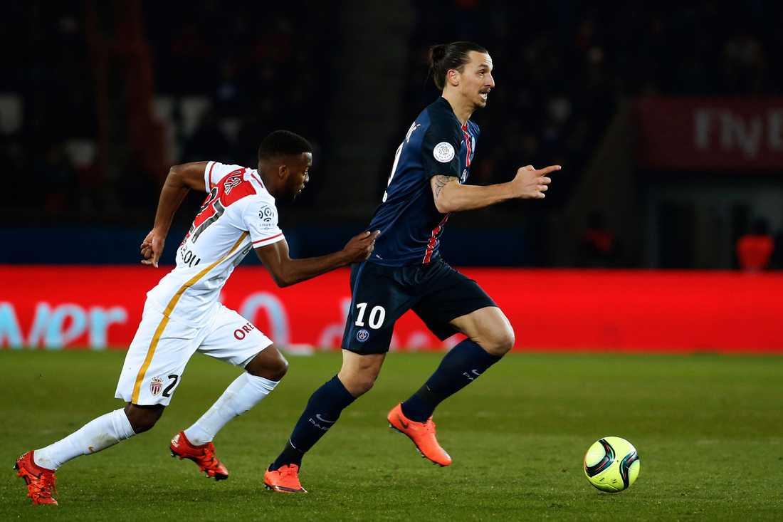 Zlatan Ibrahimovic blev mållös i matchen mot Monaco.
