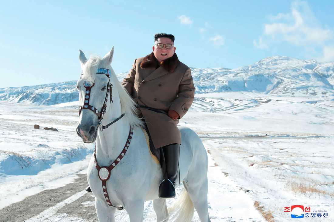 Ett propagandafoto på Nordkoreas ledare Kim Jong-Un, publicerat tidigare i oktober. Kim och USA:s president Donald Trump är avgörande för om nedrustningsansträngningarna ska lyckas.