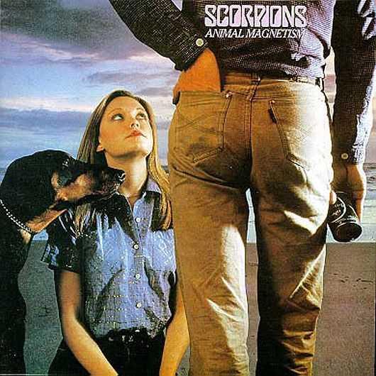 Scorpions - Animal Magnetism  Det bär emot att anta följande. Men det enda vi associerar till är en förestående oralsexfest utförd av proper kvinnna OCH en hund. Voff.