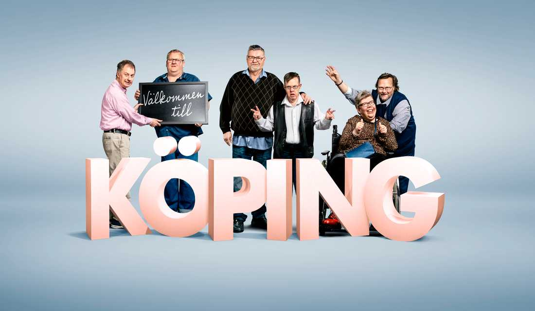 Linda Hammar tillsammans med hela Köping-gänget