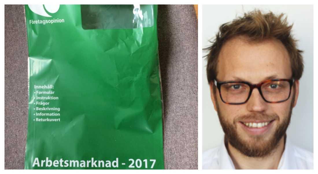 Henrik Lindblom Öhlin är en av de som fick Företagsopinionsutskick på posten.