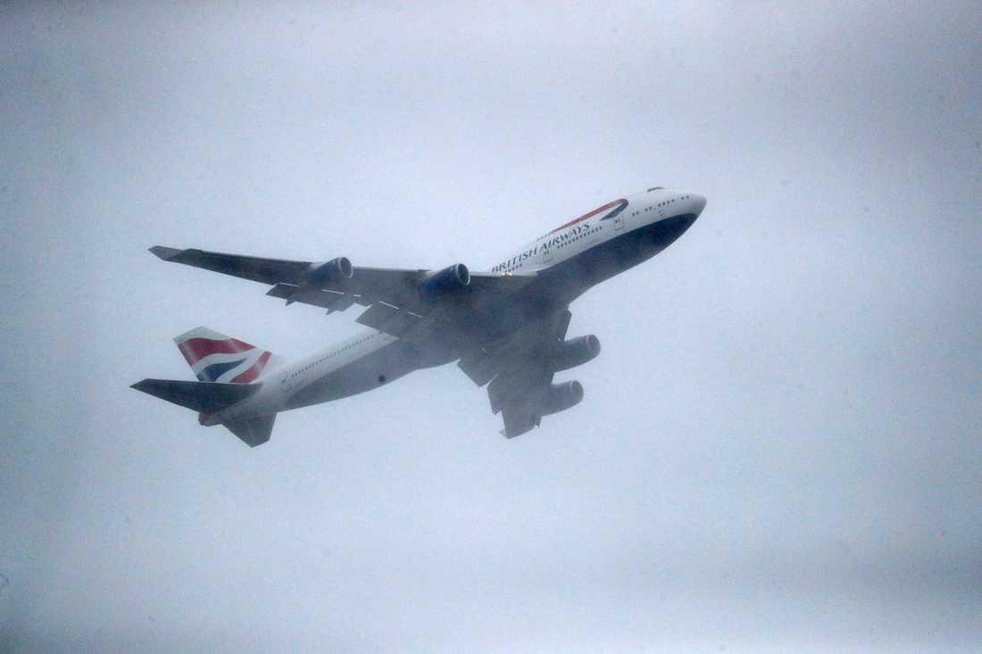British airways-plan. Arkivbild.