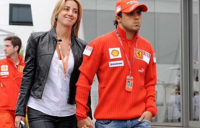 Rafaela Massa, Felipe Massas fru. Paret har nyligen fått sitt första barn, hon är mammaledig.