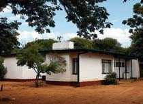 Ett typiskt hus på Zebra Drive där Mma Ramotswe bor i böckerna.