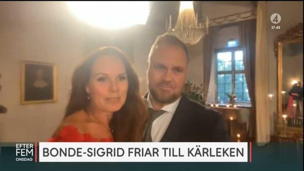 Bonde-Sigrid Bergåkra friade till sin Jesper Andersson.