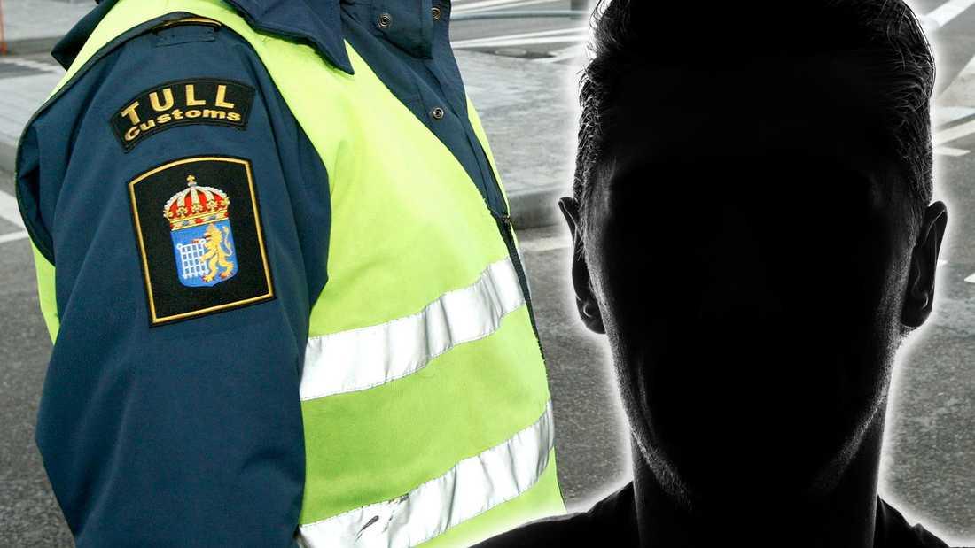 Artisten åkte fast när personal från Tullverket som genomförde en utresandekontroll.
