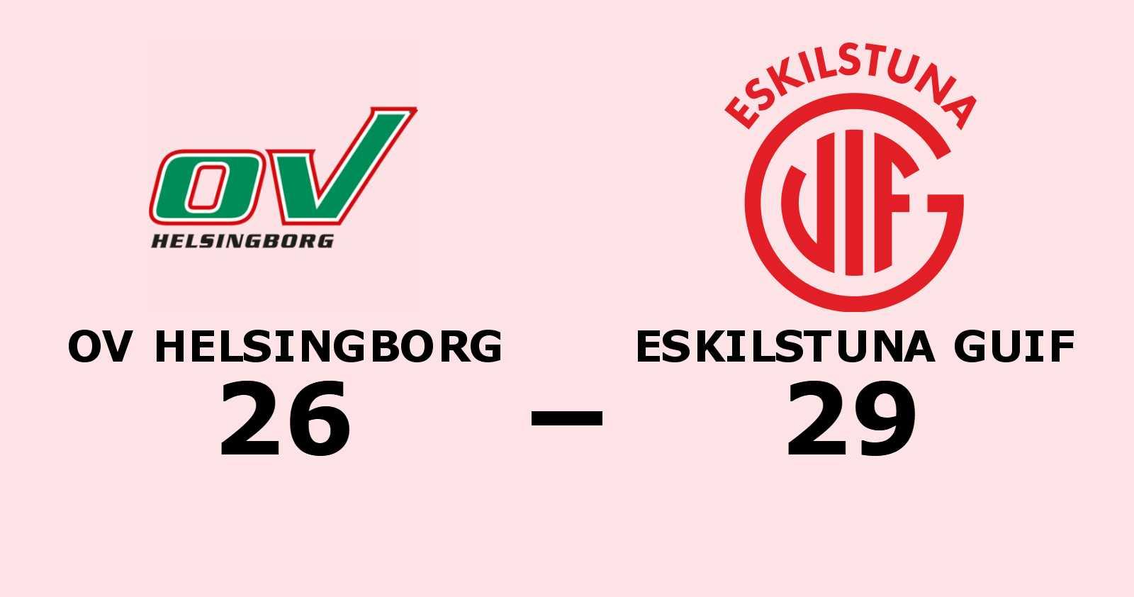 Eskilstuna Guif vann borta mot OV Helsingborg