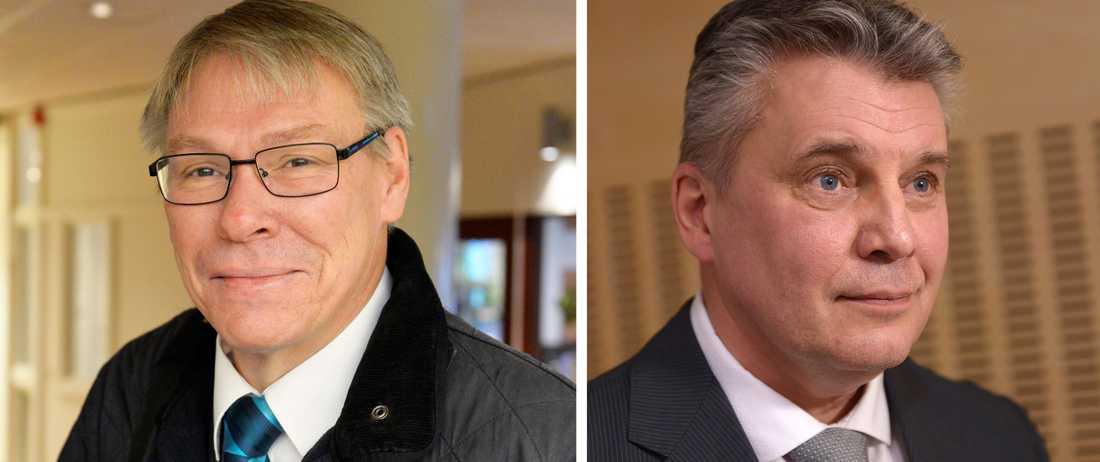 Förundersökningsledaren Krister Petersson (t.v.) och spaningsledaren Hans Melander, chefer för Palme-gruppen.