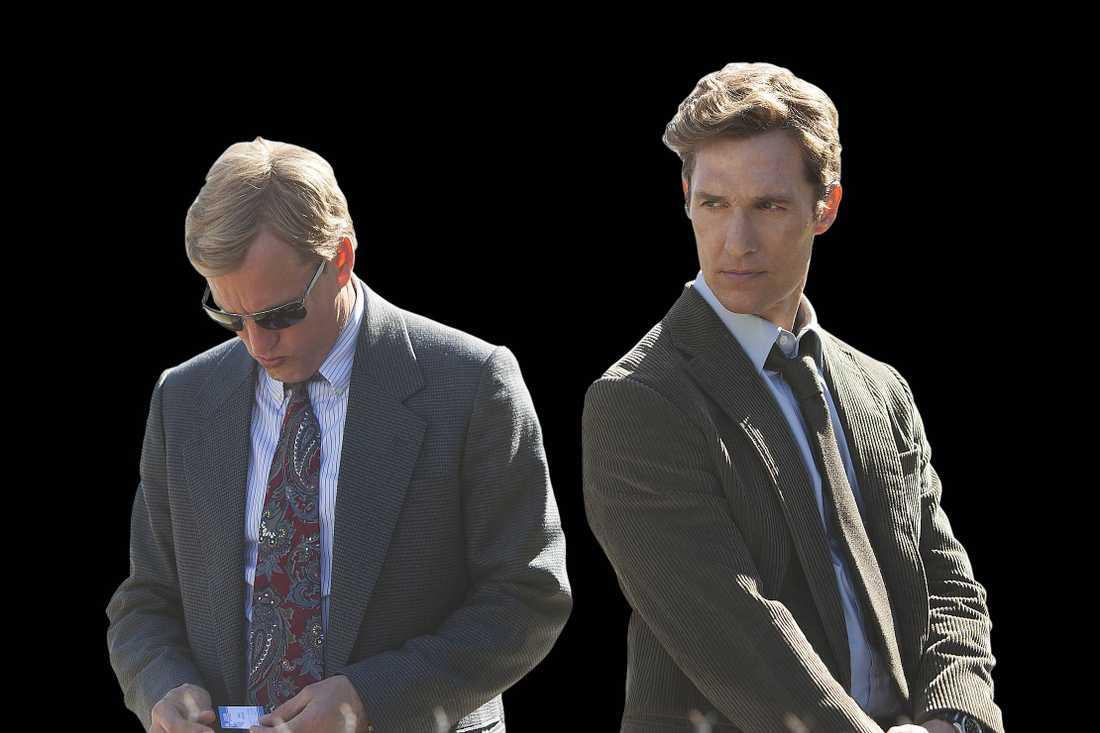 """Harrelson och McConaughey i """"True Detective""""."""