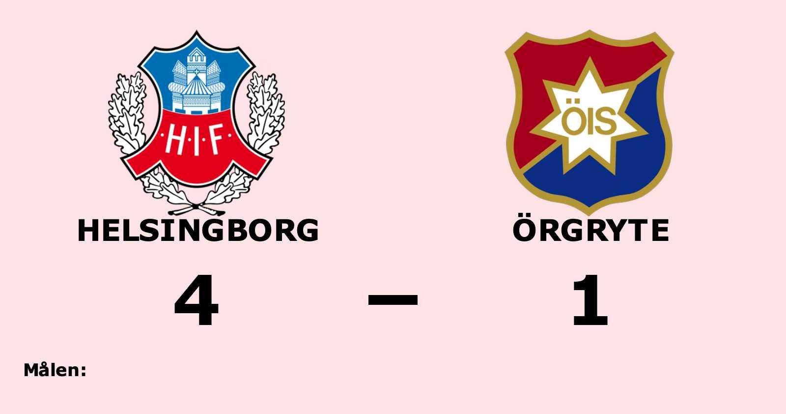 Helsingborg tog tre rättvisa poäng mot Örgryte