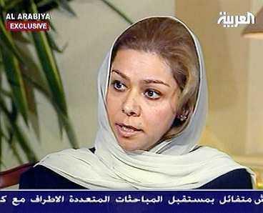 BERÄTTAR OM SIN PAPPA Saddam Husseins äldsta dotter Raghad, 35, intervjuades i den jordanska i tv-kanalen Al Arabiya i går. Hon sade att hennes far är en trogen beduin som älskar sitt land och att ingen ska tro att han någonsin skulle lämna Irak.