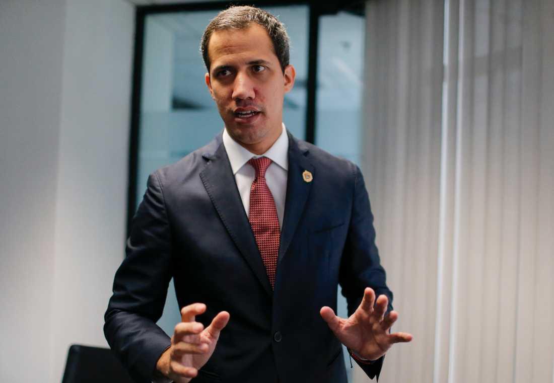 Oppositionsledaren Juan Guaidó. Arkivbild.