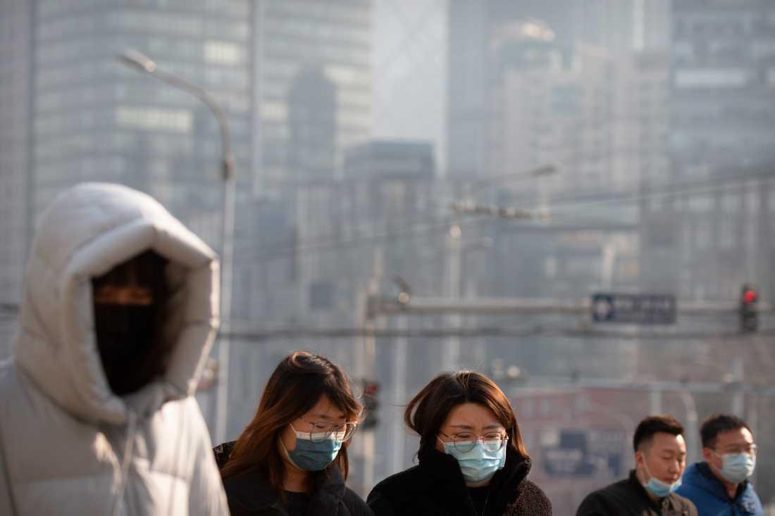 Myndigheterna inför nya virusåtgärder i Kinas huvudstad Peking. Arkivbild.