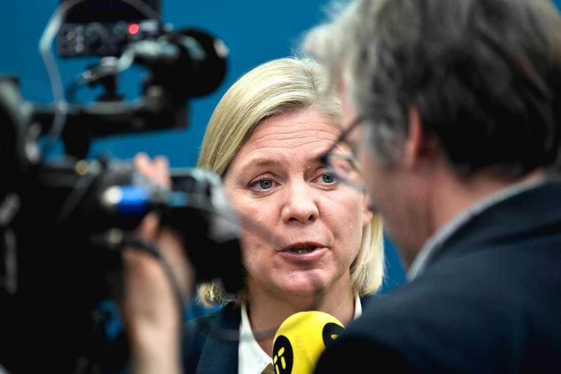 Enligt finansminister Magdalena Andersson Utrymmet för ofinansierade reformer för 2019 är i det närmaste obefintligt