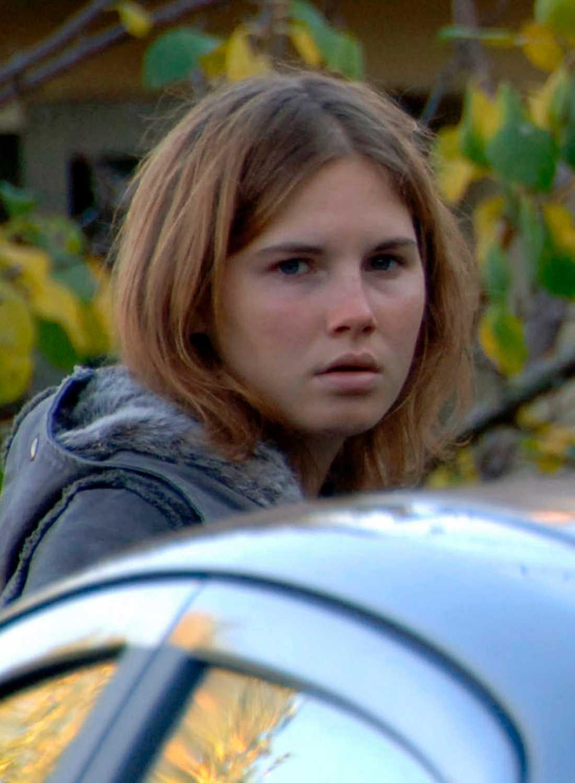 Amanda Knox dagen efter mordet på Meredith Kercher 2007.