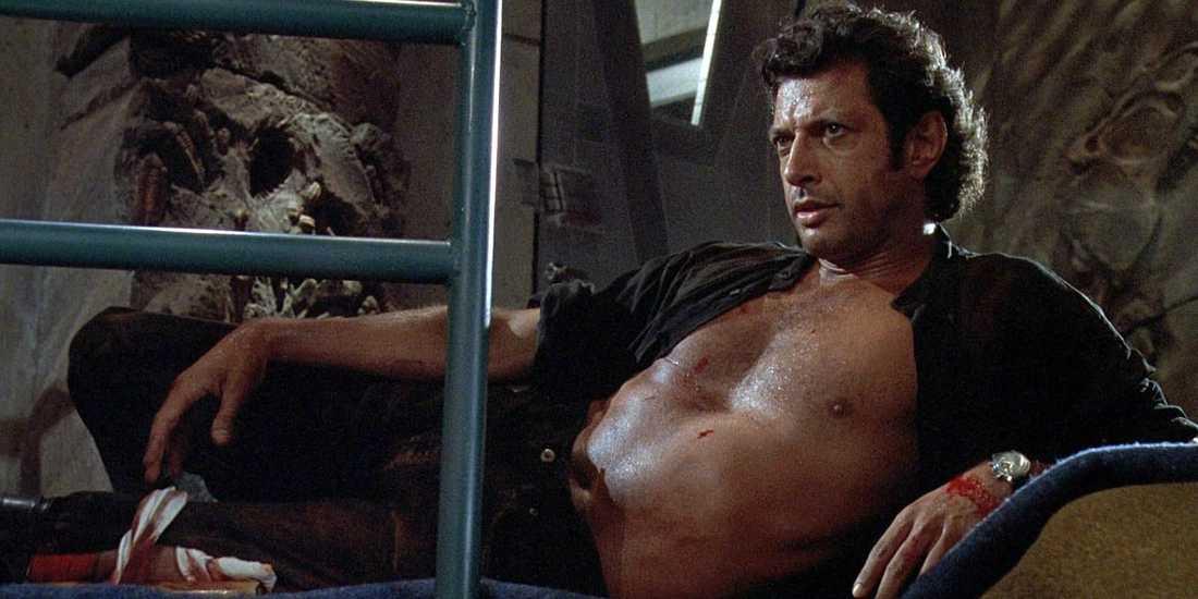"""Ingen tampas med ilskna skräcködlor som Goldblum. Här i """"Jurassic Park"""" från 1993"""