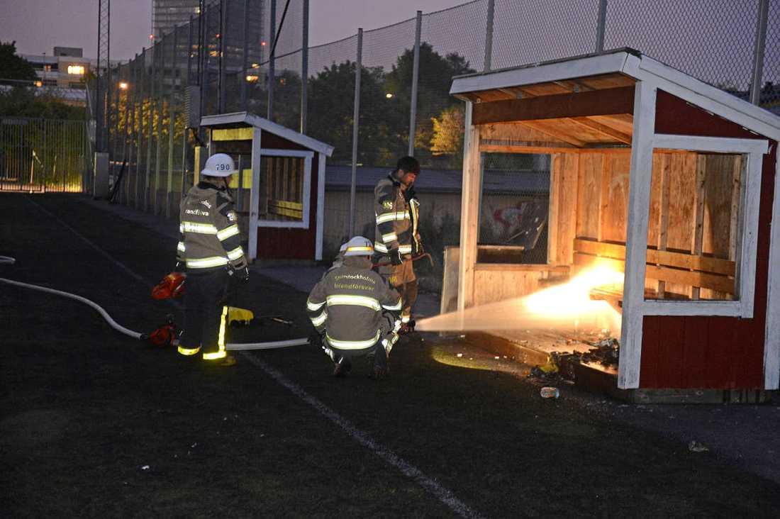 Brand på Igelbäcksskolan i Kista