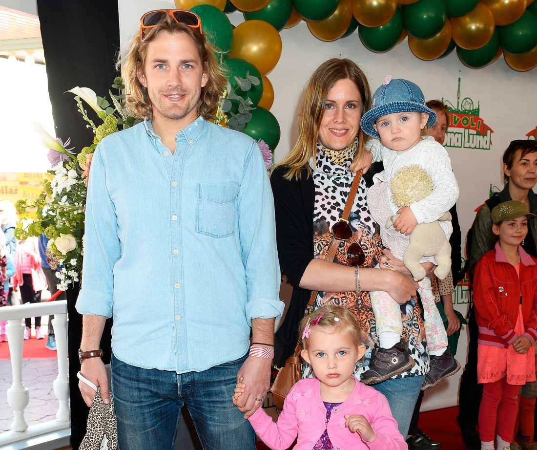 Martin med familjen.
