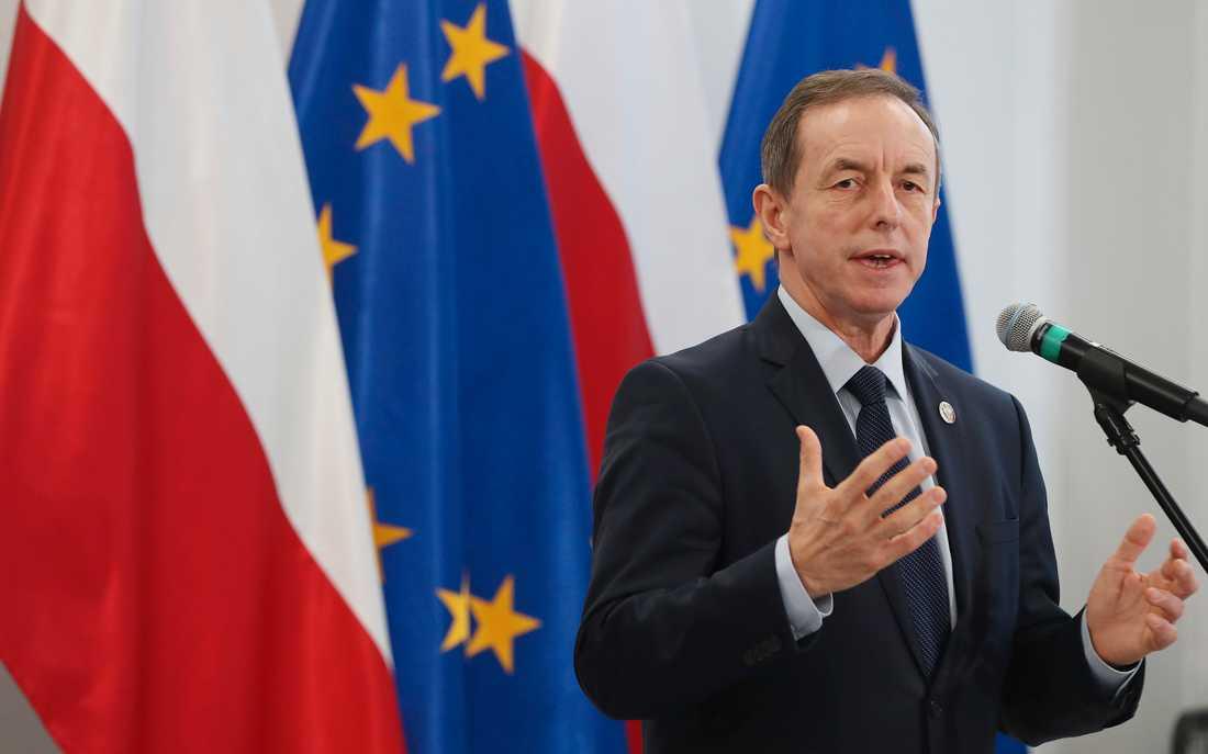 Tomasz Grodzki, den polska senatens oppositionelle talman, varnar regeringen för att driva Polen ut ur EU.