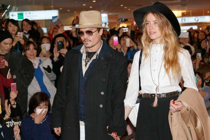 Johnny Depp och Amber Heard i Tokyo i slutet av januari i år.