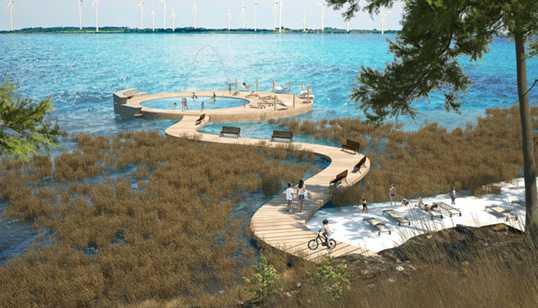 Gotland får en havspool med uppvärmt vatten i Fide.