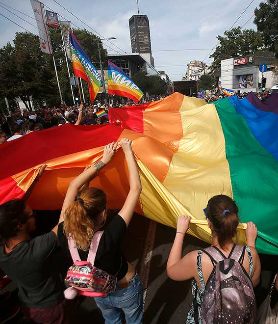 Pridefestival i Belgrad.