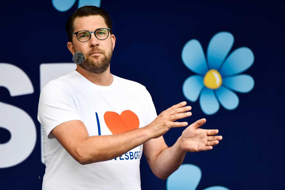 Jimmy Åkesson under sitt Almedalstal.