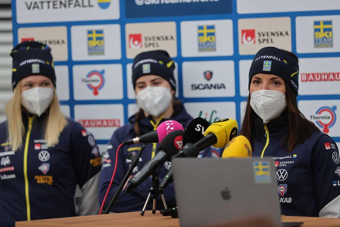 Jonna Sundling, Ebba Andersson och Charlotte Kalla är tre av åkarna som kör stafetten för Sverige på skid-VM i Oberstdorf.