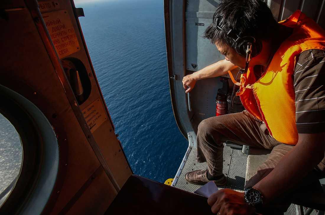Kustbevakningen söker efter MH370.