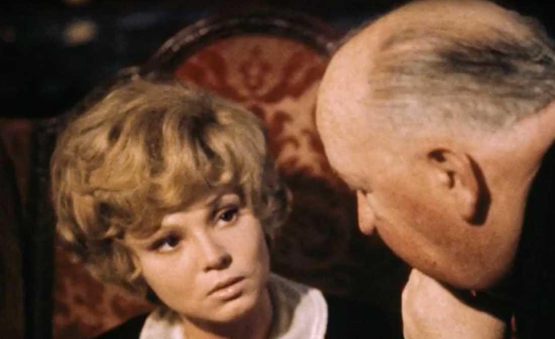 Barbara Harris och Alfred Hitchcoock.