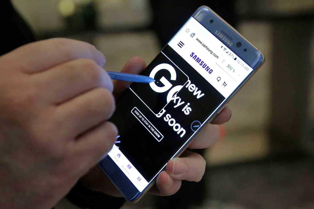 Samsungs nya mobil Galaxy Note 7 får inte användas ombord på flygningar med SAS.