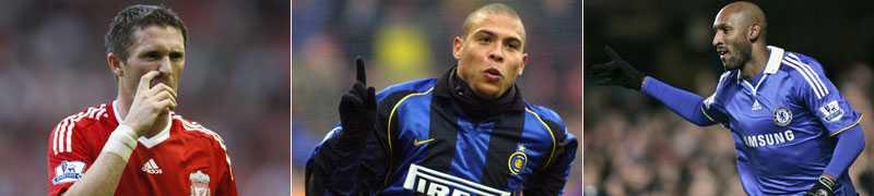 Dyra Robbie Keane, Ronaldo och Nicholas Anelka är tre av namnen på listan över de dyraste spelarna.