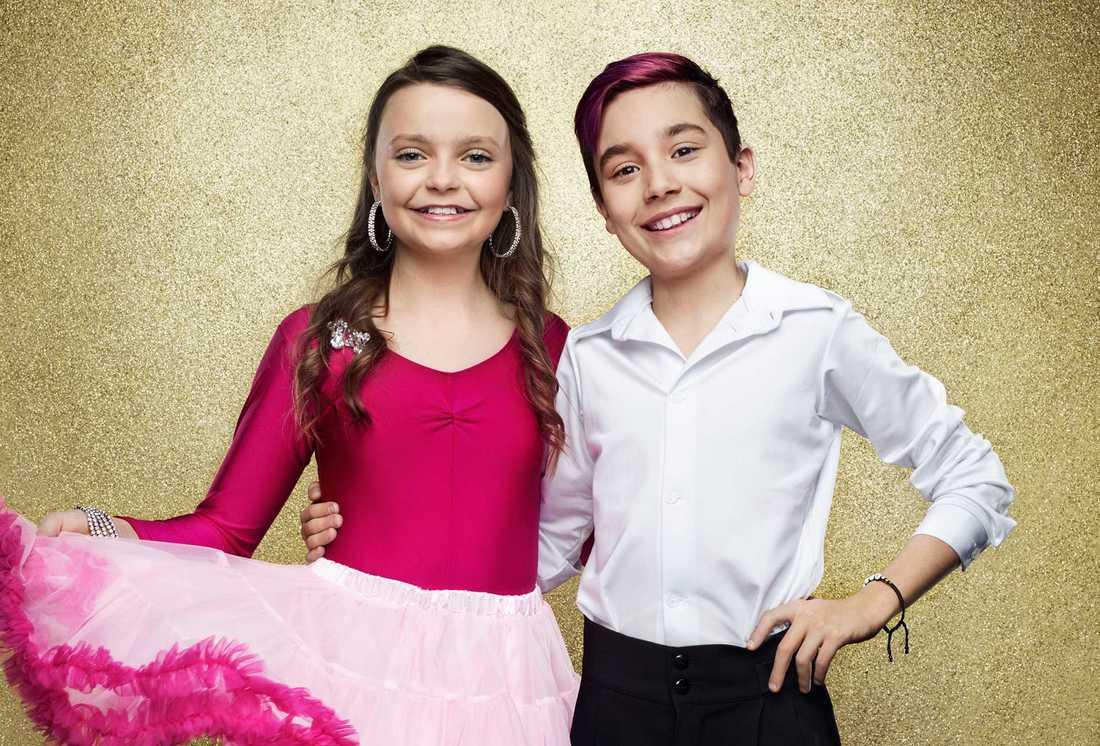Josefine Craafords son Charlie Aliaga, 11, och Yasmin Valfridsson Hughes