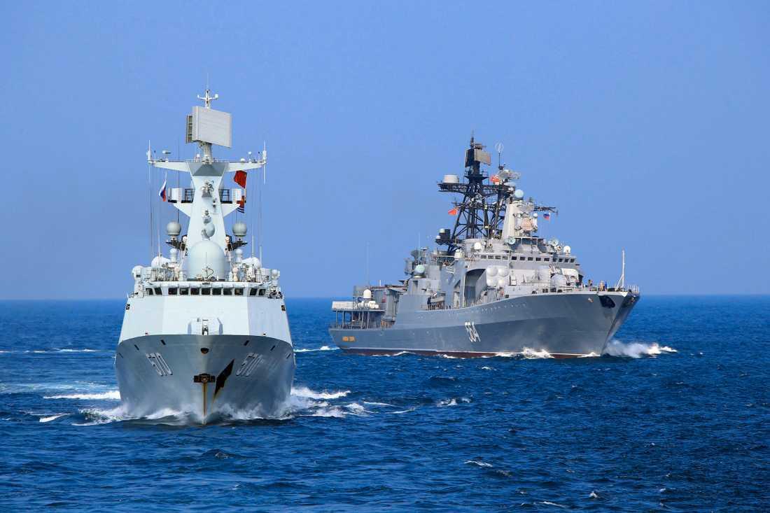 Ryssland och Kina samövar sina flottor