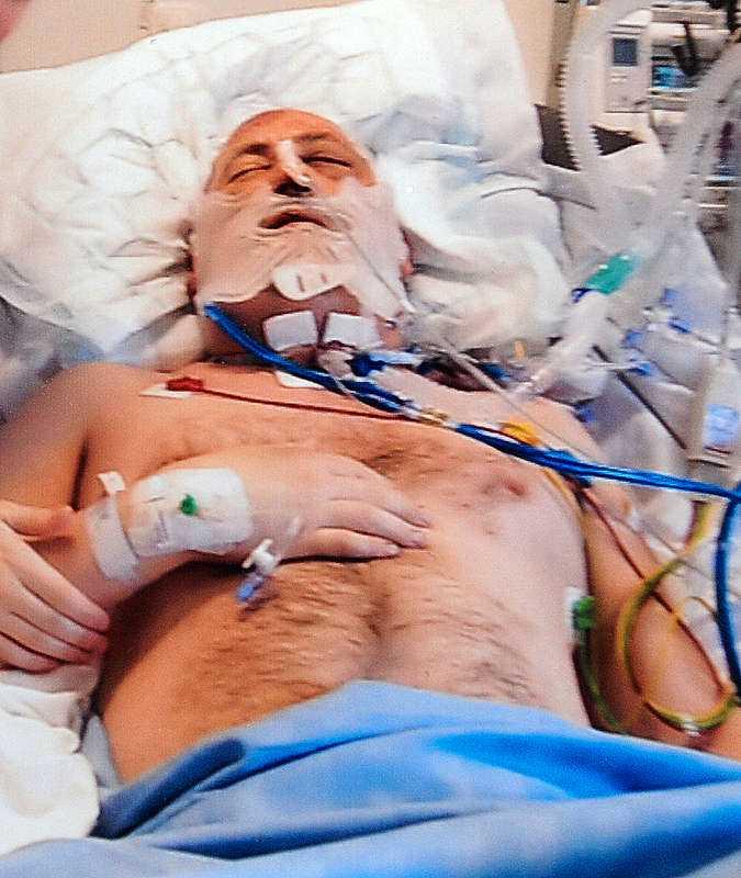 Hasse Löf misshandlades brutalt utanför Gävle sjukhus.
