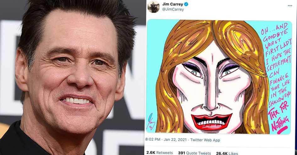 """Jim Carreys Twitter-sågning av Melania Trump: """"Tack för ingenting"""""""
