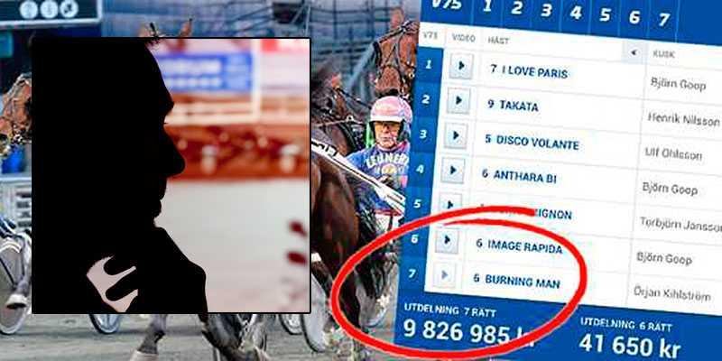 En man från Vagnhärad vann mest i Sverige på V75 i lördags. På 160 kronor satsade kan han nu kvittera ut 10,4 miljoner kronor.